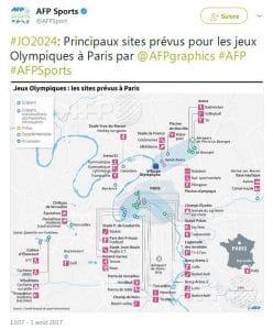 sites prévus pour les JO 2024 à Paris